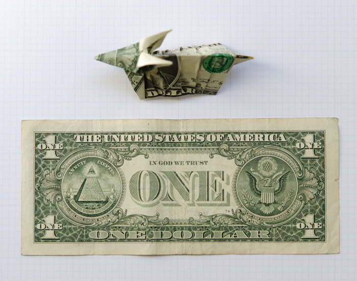Mark Fickett Art Stuff Dollar Bill Origami Armadillo