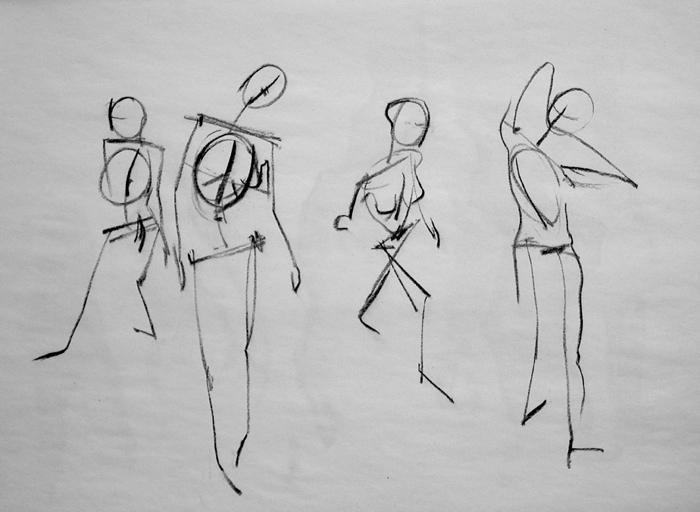 skeletal armature figure drawings
