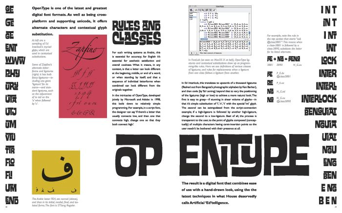 Spread 2: OpenType; Rules and Classes