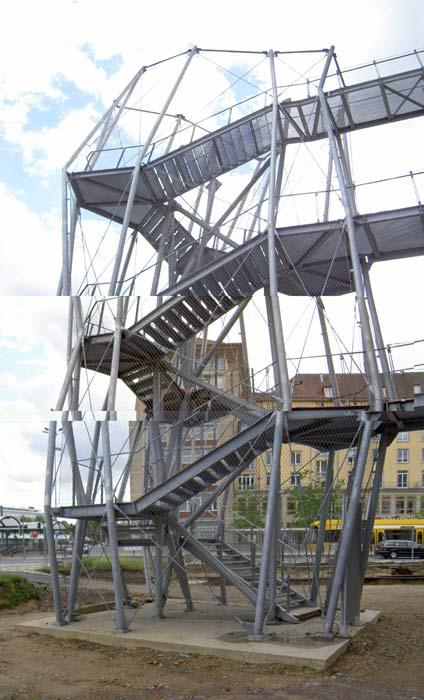 external steel stairway