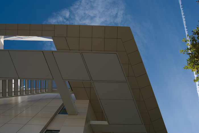 angled walkway and overhang