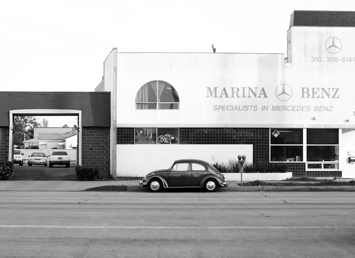 beetle and dealership with tiles