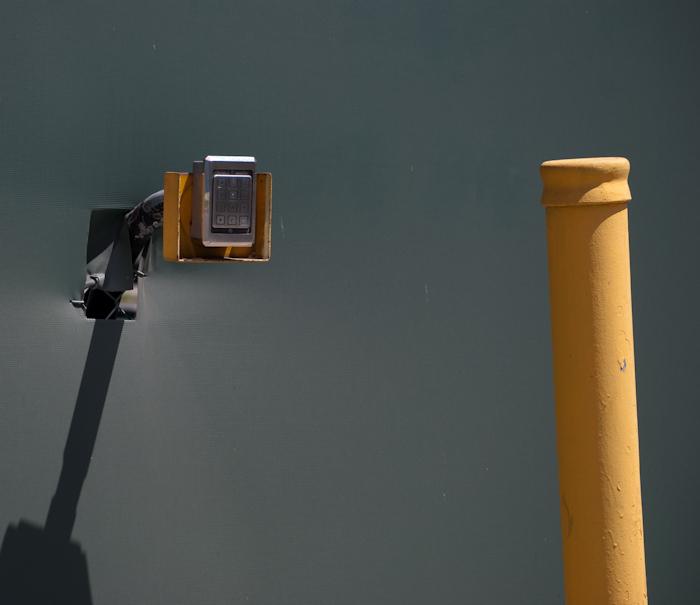gate keypad with pole