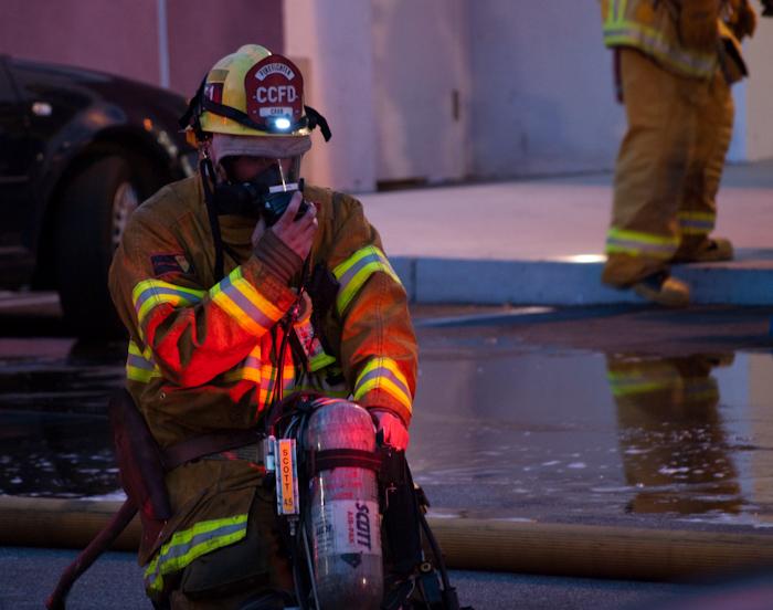 fireman remvoing gear
