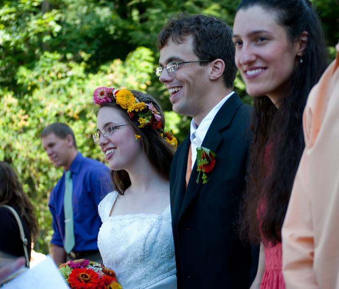 wedding recieving line with couple