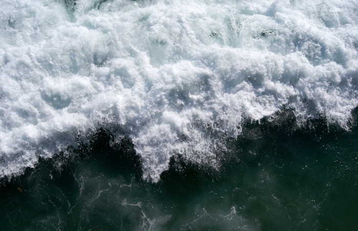 wave breaking from above