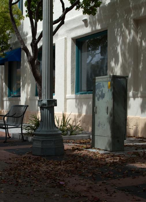 utility box in courtyard