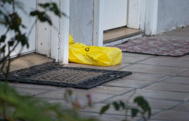 phone book in bag between mats