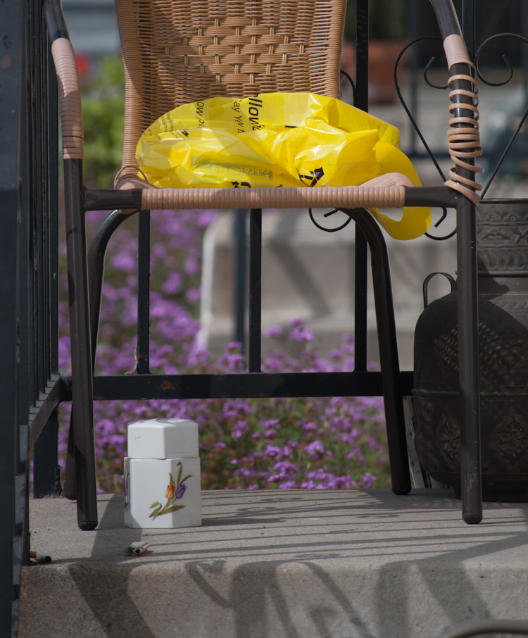 phone book in bag on chair