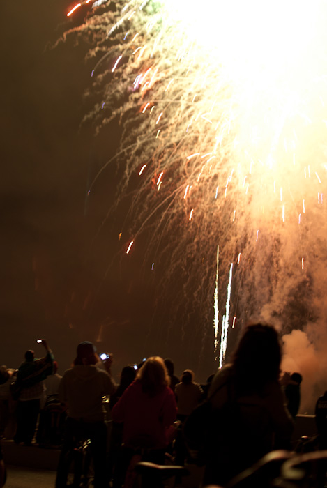 firework burst above crowd