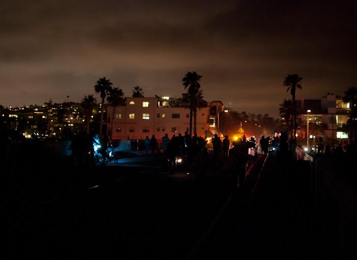 lights above crowd