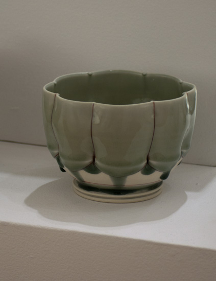 dimpled bowl by Shawn Spangler