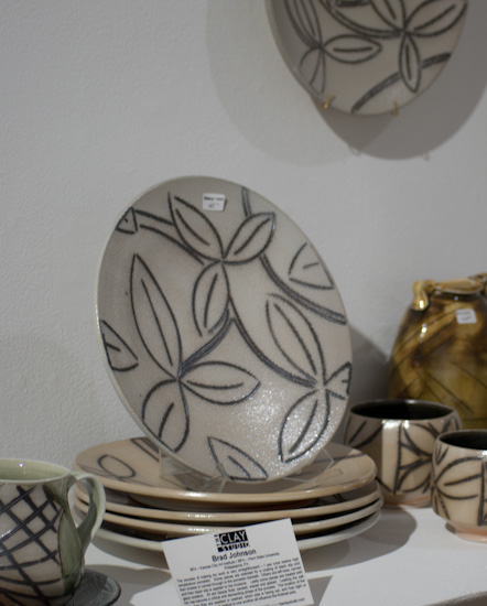 salt-fired leafy designs by Brad Johnson