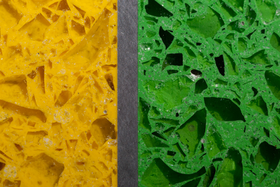 green and yellow floor detail