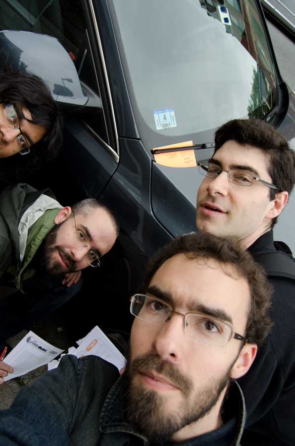 group with parking ticket