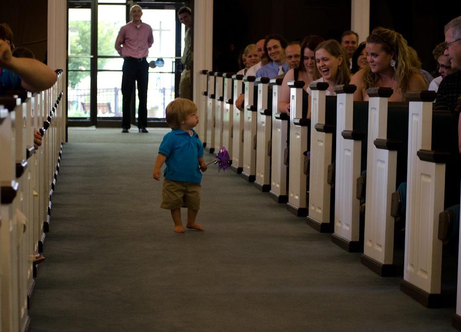 boy in aisle