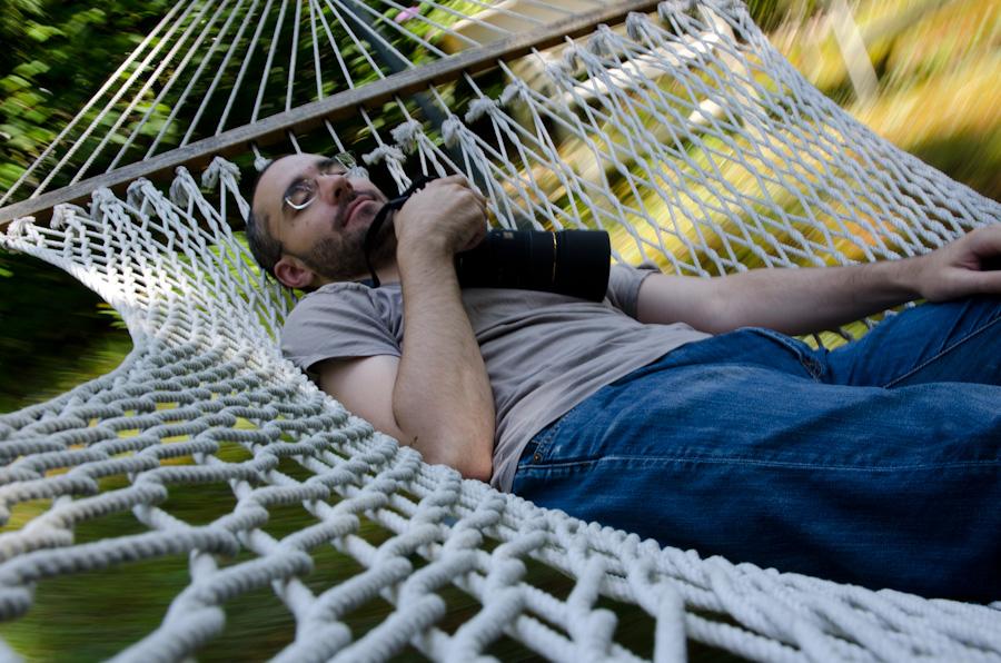 Matthew in hammock