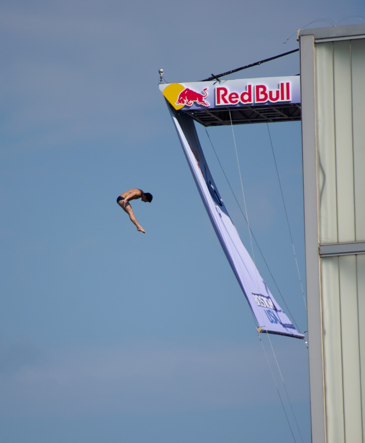 cliff diver with patform