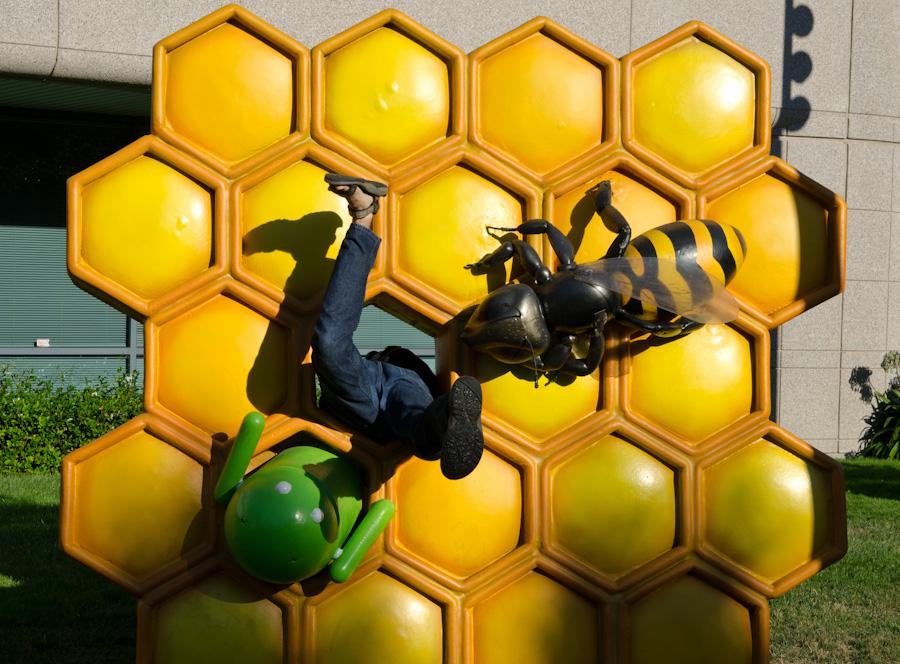 honeycomb statue