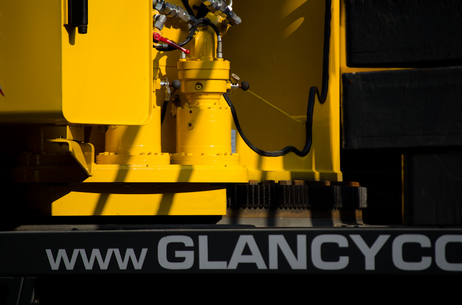 crane cab and gear