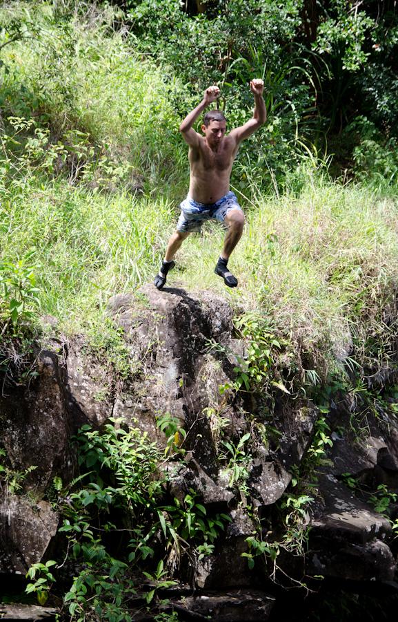 man jumping up