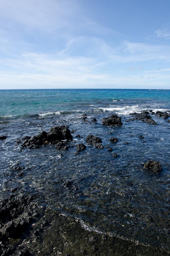 volcanic rock in ocean