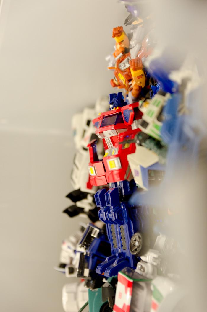 Optimus Prime viewed across transformers