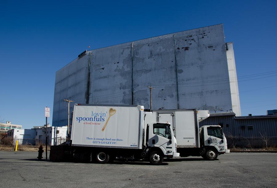 trucks, side