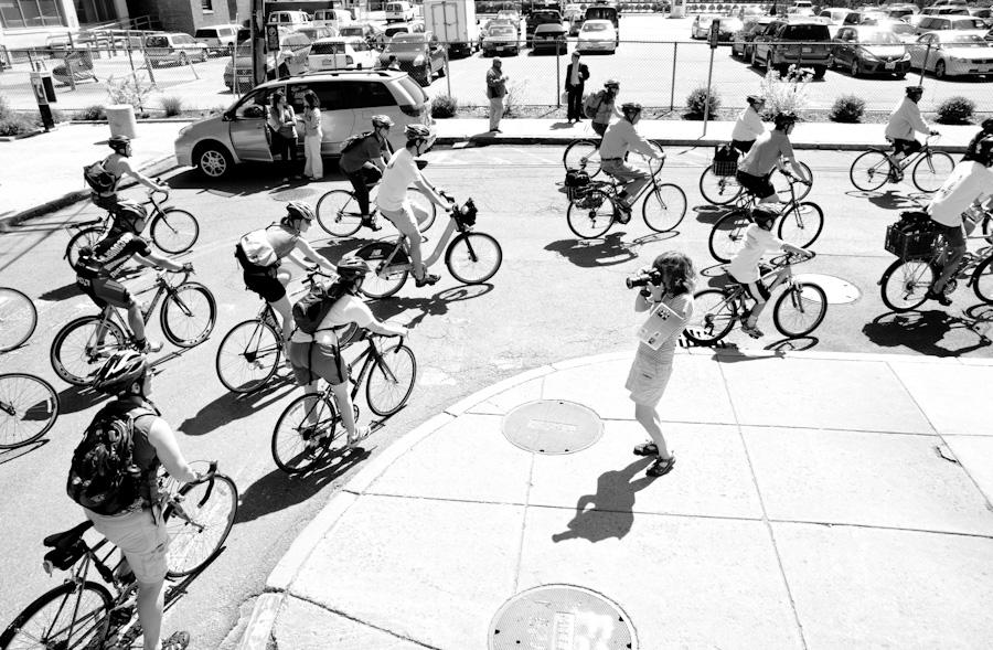 bikes around corner