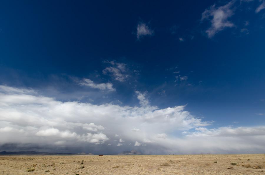 desert, mountains, clouds, sky