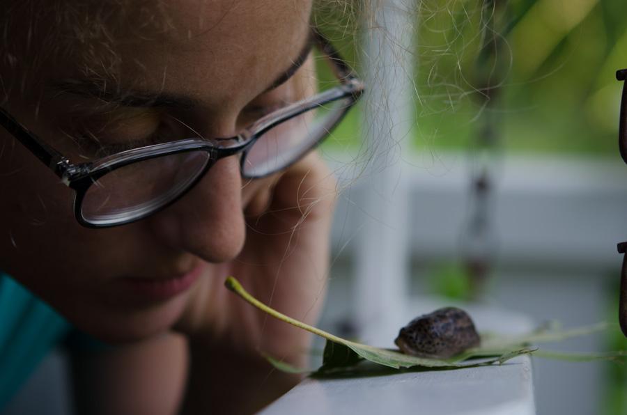 Kelsey and slug