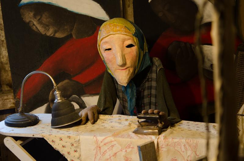 puppet ironing