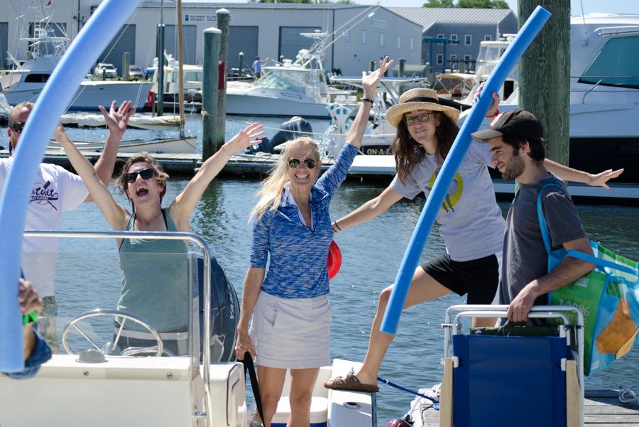 group boarding boat