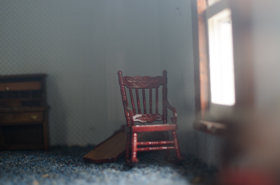 rocking chair by window